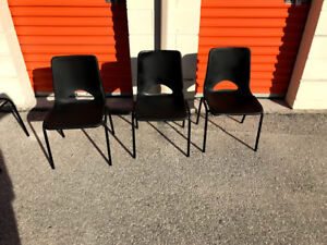 Used plastic stacking chairs! 15 available