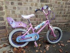 Girls Disney Princess Bike