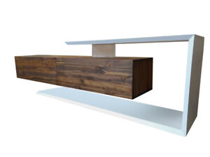 Floating TV Console with 2 Drawers and Lacquer Surround