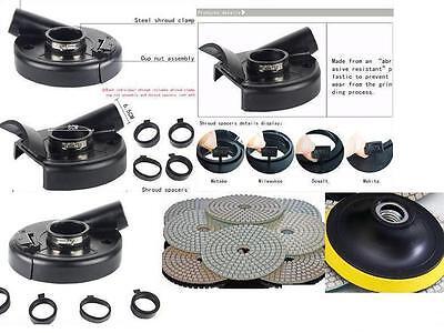 7 Convertible Dust Shroud Polishing 25 Pad Metabo Dewalt Makita Bosch Grinder
