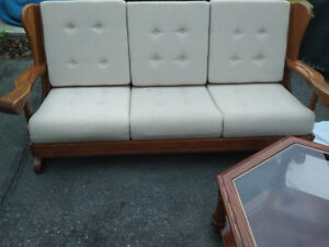 Couch Solid Oak