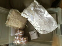 HAND CRAFTED BRIDAL POUCH & RING  PILLOW