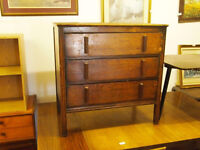 Antique solid wooden Set of three chest of drawers
