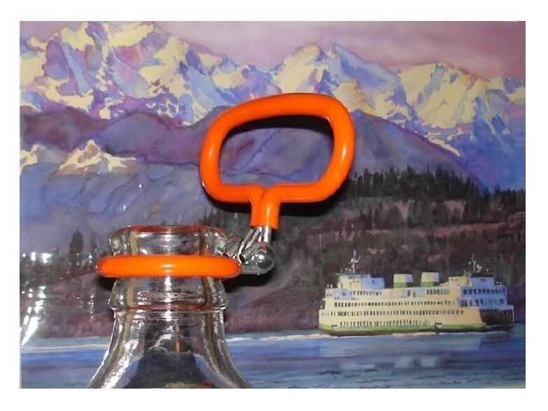 CARBOY HANDLE For 3/5/6 Gallon Glass Fermenters a Bright Orange Safety Carrier