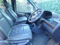 Mercedes 638 V220 Seven Light grey Leather rear seats an table