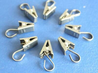 1PC Stainless Steel Curtain Clips Metal Hanging Rod Hooks Window