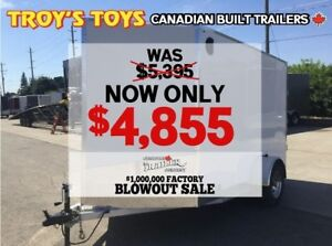 2018 Canadian Trailer Company FACTORY BLOWOUT SALE! 6X10 V-Nose