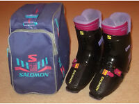 Salomon SX72 HTC Ski Boots, Size 9/10, Retro Rear-Entry!