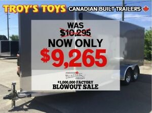 2018 Canadian Trailer Company FACTORY BLOWOUT SALE! 7X18 V-Nose