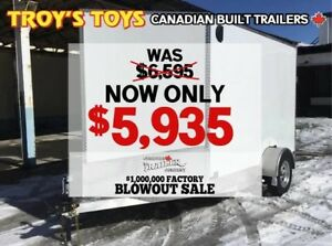2018 Canadian Trailer Company FACTORY BLOWOUT SALE! 7X10 V-Nose