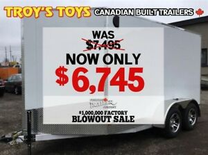 2018 Canadian Trailer Company FACTORY BLOWOUT! 7X12 V-Nose Cargo