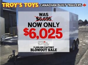 2018 Canadian Trailer Company FACTORY BLOWOUT! 7X14 V-Nose Cargo