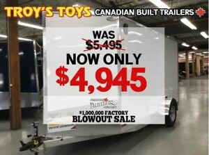 2018 Canadian Trailer Company FACTORY BLOWOUT SALE! 6X12 V-Nose