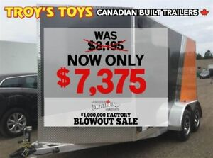 2018 Canadian Trailer Company FACTORY BLOWOUT SALE! 7X12 V-Nose