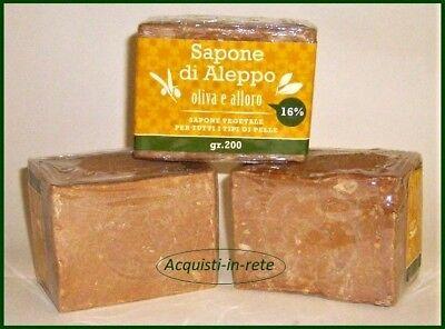 SAPONE DI ALEPPO    3 Pezzi da Gr. 200