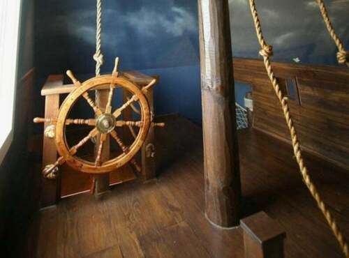 NEW 36 inches Pirates home decor Ship Wheel Wooden Captain Wheel
