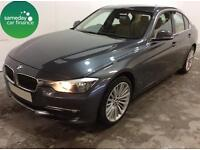 £282.60 PER MONTH GREY 2012 BMW 320 2.0 LUXURY 4 DOOR DIESEL MANAUL