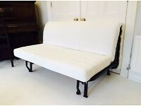 Ikea LYCKSELE Double Futon Sofa Bed +Top Of The Range Very Comfy HAVET Mattress+ Cover (Can Deliver)