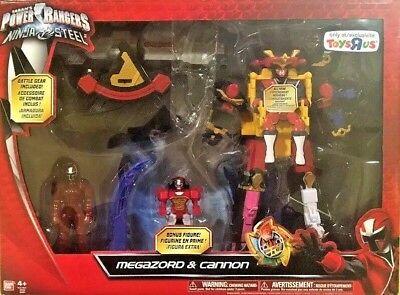 Power Rangers Ninja Steel Megazord & Cannon DX Battle Morpher TRU Toys R Us (Power Rangers Ninja Steel Toys R Us)