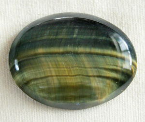 Blue Tigers Eye / Gold Tiger's Eye (Ovals) For Sale