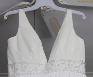 Ivory, Chiffon Dress with Beading
