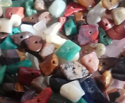 Gem Mix 5000 Beads Variety Multicolor stone Gemstone chip nugget bead lot NEW