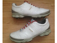 Mens ECCO Leather Waterproof BIOM YAK Golf Shoes EU42 / UK 8-8.5 MUST SEE