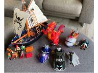 Playmobil Pirate Ship Imaginext Dragon Shark Batman etc