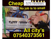 Electrician-Fully Qualified, FREE Quote CHEAP Prices, work Guaranteed 07540373561 call 24hrs a day