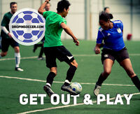Calgary's Biggest & Most Affordable Coed Indoor Drop-In Soccer