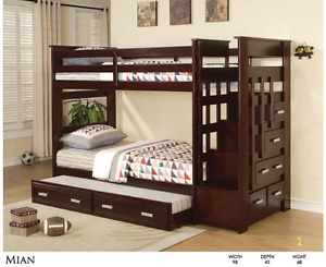 come into our Cobourg showroom and see our bunks, we have bunks