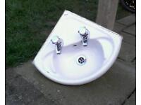 Twyfords ceramic corner sink