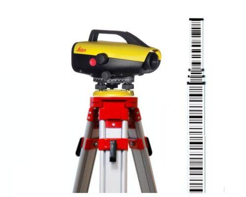 Leica Sprinter 150M Electric Level w/ 5-meter Metric barcode Rod & Tripod