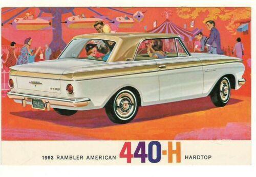 1963 Ad Postcard: Rambler American 440-H Hardtop