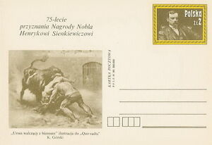 Poland prepaid postcard (Cp 750) literature Nobel prize - <span itemprop=availableAtOrFrom>Bystra Slaska, Polska</span> - Poland prepaid postcard (Cp 750) literature Nobel prize - Bystra Slaska, Polska