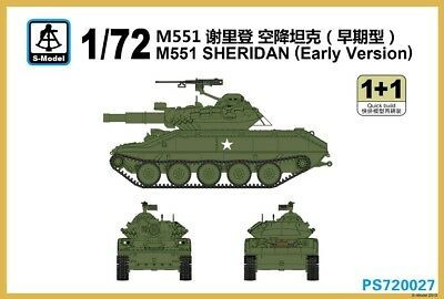S-Model PS720027 1/72 M551 Sheridan (Early Version), used for sale  China