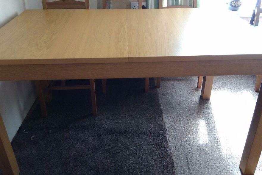 Ikea Bjursta Oak Veneer Extending Table 140-220cm FREE DELIVERY 044