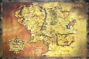 Map-of-Middle-Earth-Poster-Lord-of-the-Rings-Exclusive-Import-FULL-SIZE-24x36