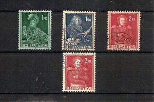 SVIZZERA 1941, 4v, usati, con variante colore carta (pha004) - Italia - SVIZZERA 1941, 4v, usati, con variante colore carta (pha004) - Italia