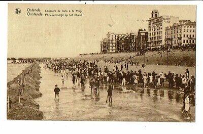 CPA-Carte Postale-Belgique- Oostende Concours de forts à la plage -1933 VM13750