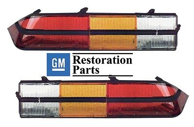 Duo Lamp Tail Light - 1978 1979 1980 1981 Chevrolet Camaro Z28 Tail Light / Lamp Lens Set Pair 80 81