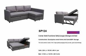 Brand New Fabric L Shape Storage Sofa Bed Couch Loung (SP124)