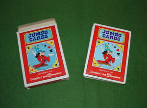 Vintage Walt Disney World Jumbo Playing Cards