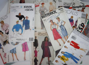 SEWING PATTERNS UNCUT RETRO LARGE SIZES McCALLS MIX 15 PATTERNS