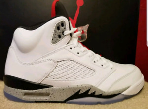 jordan retro 5 white cements