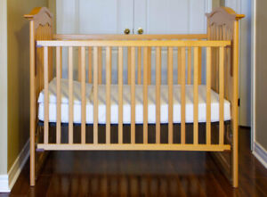 Baby Crib and Matching Changing Table with Drawers