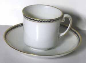 White Demi-Tasse cup and saucer
