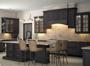 Bergen Shale wood kitchen - $1000 in accessories - $64 a month