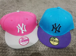 New York NY Yankees Pink Blue MLB Baseball Hats and Caps Snapback ... 955b30c94d1