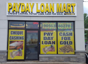 PAYDAY LOAN & CHEQUE CASHING & GOLD BUY